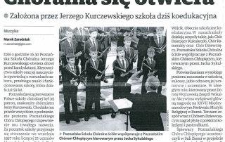 Chóralna się otwiera - Głos Wielkopolski 16.02.2016
