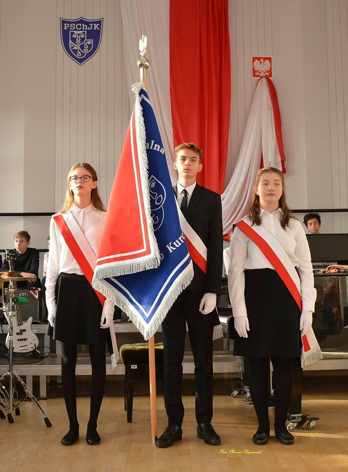 Poczet sztandarowy PSChJK (fot.R. Szymański)